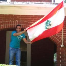 Lebanese Flag in University of Delaware.jpg